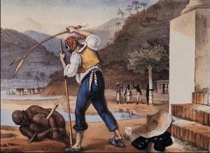 O escravo e seu feitor, segundo o francês Jean Baptiste Debret