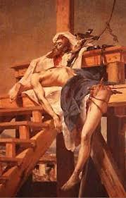 Tiradentes esquartejado, por Pedro Américo, obra do acervo do Museu Mariano Procópio, de Juiz de Fora)