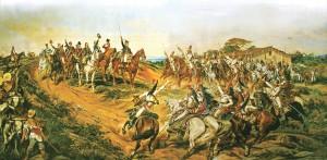 O quadro O Grito do Ipiranga, do pintor Pedro Américo: cena diferente da real